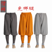 僧服短褂小褂長褂僧褲男免綁腿收口腿褲小腳褲冰絲棉麻和尚褲子