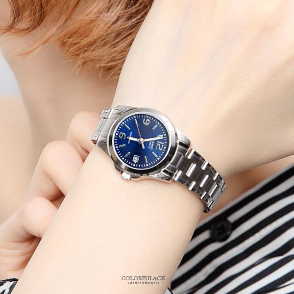CASIO卡西歐小錶框藍面腕錶 都會時尚【NEC113】