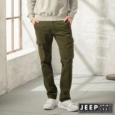 【JEEP】經典修身休閒口袋工作褲 (橄欖綠)