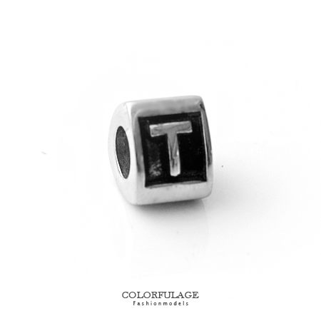 組合字母串珠手鍊 自由搭配鋼墜手環 T字母 柒彩年代【NT4】CHARMS