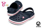 Crocs卡駱馳 洞洞鞋 成人女款 經典LOGO造型 園丁鞋 防水布希鞋 A1712#深藍◆OSOME奧森鞋業