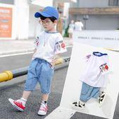 男童套裝 男童套裝3-6歲兒童童裝5寶寶帥氣衣服4小男孩潮7 俏腳丫