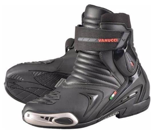 【東門城】德國Louis VANUCCI RV7 短筒摩托車靴 重型機車鞋 義大利設計(黑色)