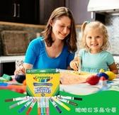 畫筆套裝-繪兒樂Crayola可水洗水彩筆套裝兒童幼兒園可洗彩色筆繪畫套裝12色24色 糖糖日系