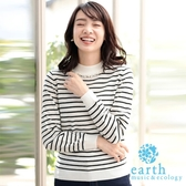 ❖ Hot item ❖ 定番珍珠裝飾微高領針織上衣 - earth music&ecology