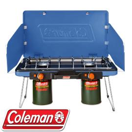 【Coleman 美國 瓦斯雙口爐〈清澈藍〉】CM-31232/雙口爐/瓦斯爐/露營/炊具★滿額送