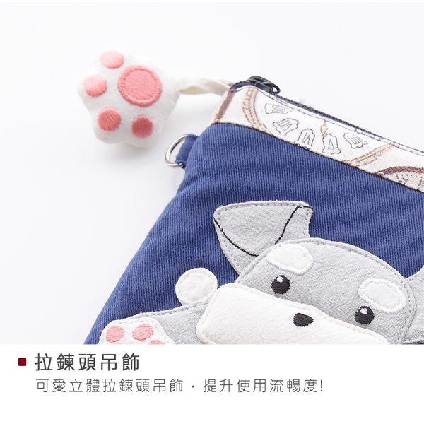 Kiro貓‧雪納瑞 拚布包 鋪棉 3C收納 小物/手機包【222613】