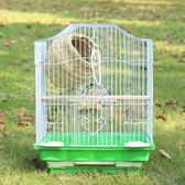 鳥籠 虎皮鸚鵡鳥籠大號不銹鋼電鍍籠子八哥玄鳳牡丹鸚鵡籠鴿子籠 伊芙莎YYS