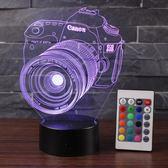 3D立體相機小夜燈遙控觸摸床頭臺燈 BF1578【旅行者】