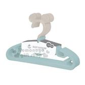 〔小禮堂〕迪士尼 米奇 日製造型兒童塑膠衣架組《5入.藍灰.大臉》掛衣架.曬衣架.褲架 4904121-30018