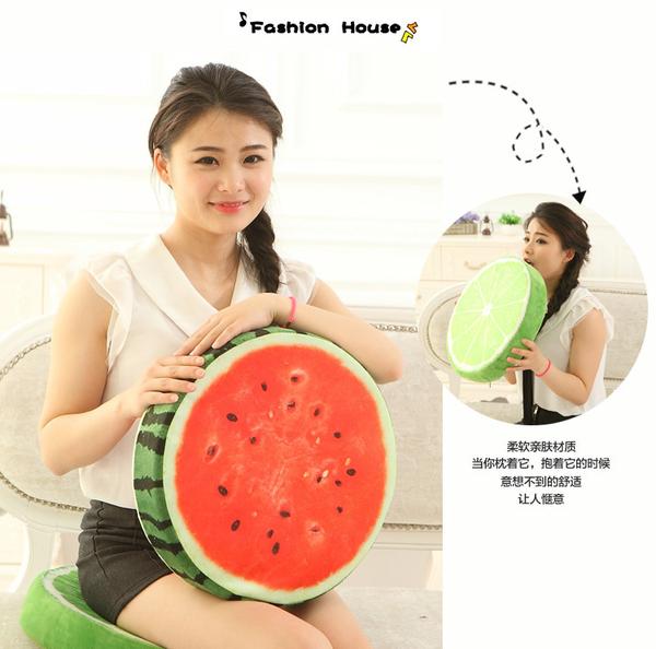 *幼之圓*3D水果沙發毛絨靠墊/坐墊 仿真水果造型超Q擺飾~創意生日禮物