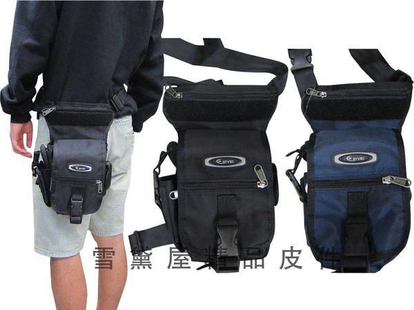 ~雪黛屋~EYE腿包綁腿專用包外出郊遊上班工作包工具袋高單數防水尼龍布材質型男必備款HEYE070