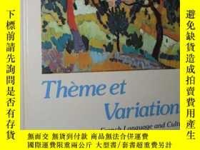 二手書博民逛書店罕見原版書 美國出版 Theme et Variations 2