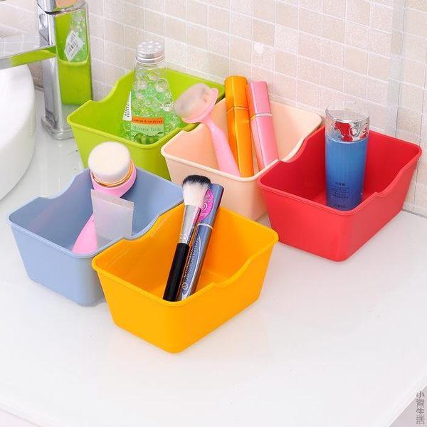 迷你桌面收納盒塑料長方形辦公桌儲物盒桌上盒子收納置物盒JRM-1568