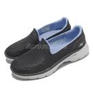 Skechers 健走鞋 Go Walk 6 Big Splash 女鞋 灰 藍 記憶鞋墊 緩衝 休閒鞋 【ACS】 124508GYBL
