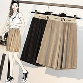 涼感冰絲大碼寬褲L-5XL~大碼女裝褶皺短褲胖妹妹短褲子4F057愛尚布衣