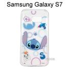 迪士尼透明軟殼 [形狀] 史迪奇 Samsung G930FD Galaxy S7【Disney正版授權】