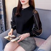 (低價促銷)春款洋氣小衫女新品春裝雪紡衫長袖韓版正韓時尚襯衫打底氣質上衣