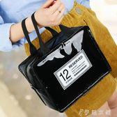ins網紅化妝包少女心小號便攜韓國簡約大容量多功能化妝品收納袋 伊鞋本鋪