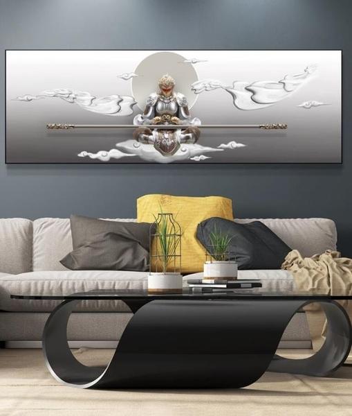 斗戰勝佛浮雕裝飾畫現代客廳沙發背景牆掛畫臥室3D立體壁畫孫悟空MBS「時尚彩紅屋」