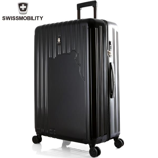 E&J【011022-01】SWISS MOBILITY熊本熊行李箱28吋行李箱-黑色 旅行箱/拉桿箱