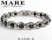 【MARE-316L白鋼】系列:萌心 (黑鋯石)  款