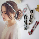 美人魚日韓版雙色頭箍珍珠彩色組合頭飾髮帶【03U0360】