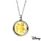 Disney迪士尼金飾 純真維尼小豬 黃金/白鋼項鍊