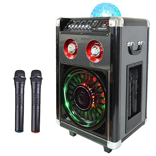 大聲公七彩炫光型無線式多功能行動音箱/喇叭/無線麥克風/教學擴音器