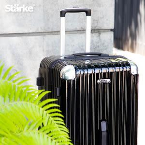 【Starke】LUXURY 32吋行李箱PC拉鍊旅行箱運動版-亮面黑