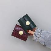 防消磁信用卡套零錢包小卡包女時尚百搭扣名片夾【愛物及屋】