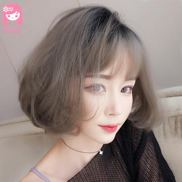 *╮Kinkee假髮╭*韓系高仿真 大姊姊風 大旁分 空氣瀏海 自由分線 短髮 假髮【 C3066R 】