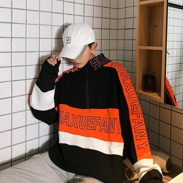 FINDSENSE品牌 2019新春 新款 韓國 立領 百搭 寬鬆顯瘦 外套
