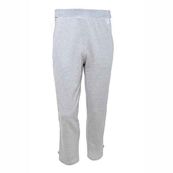 【樂著衣 】秋冬拉鍊斜口袋全開長褲-灰色