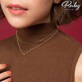 項鍊 RCha。簡約愛心雙條雙層項鍊-Ruby s 露比午茶