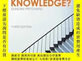 二手書博民逛書店What罕見Is This Thing Called Knowledge?Y256260 Duncan Pri