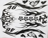 改裝摩托車裝飾車貼紙圖騰個性貼花系列套貼割字蝴蝶花MT17【韓衣舍】