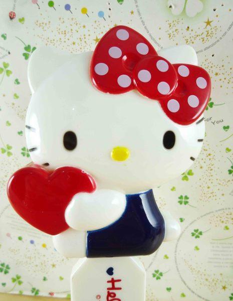【震撼精品百貨】Hello Kitty 凱蒂貓-KITTY摺疊梳/隨身梳-抱愛心