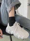 運動鞋 網紅智熏百搭厚底原宿休閒鞋2021夏季新款潮學生透氣運動鞋女【快速出貨八折鉅惠】