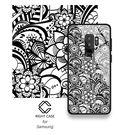 三星Note8 復古花紋手機套 SamSung S9/S9+ 手機保護套 SamSung S8/S8+ G9550 鋼化玻璃手機殼