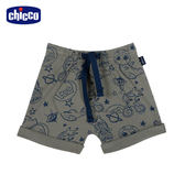 chicco-To Be Baby-塗鴉反折短褲-綠