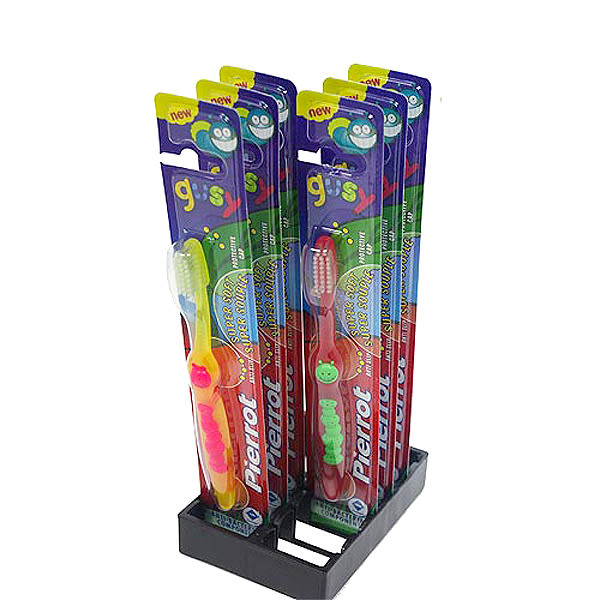 【潔登 立可樂】 兒童超軟毛牙刷(毛毛蟲造型)六支
