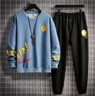 秋冬季運動休閒套裝男士韓版寬鬆流行帥氣休閒套裝