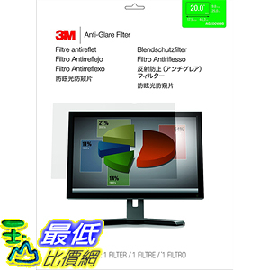[美國直購] 3M AG20.0W9 Anti-Glare Filter 螢幕防眩光片(非防窺片) for Widescreen Monitor 20.0吋 443 mm x 249 mm
