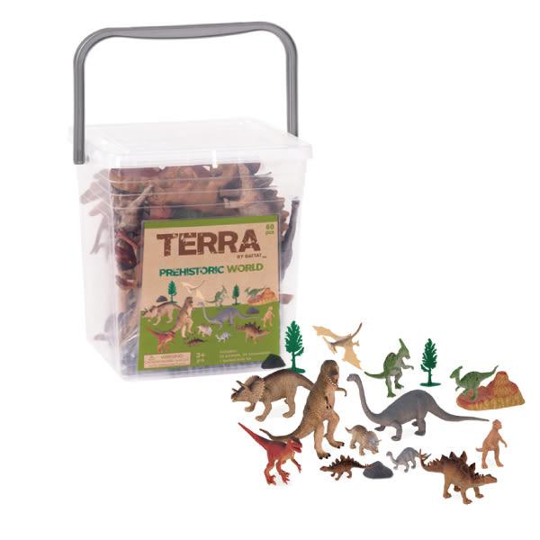 美國 TERRA 史前世界/恐龍玩具(情境桶)