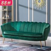 沙發沙發小戶型北歐簡約現代輕奢單人沙發臥室客廳服裝店網紅雙人沙發(快速出貨)
