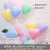 氣球 婚禮裝飾婚房布置馬卡龍色氣球 兒童多款可愛空飄氣球網紅用品 多色