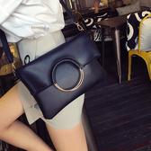 側背包 新款韓版潮子母手提包 圓環女包 折疊手拿包 單肩斜背包 女士包包