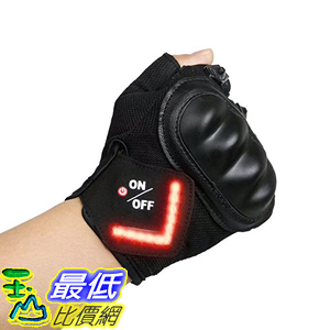 [106美國直購] 自行車 腳踏車 半指手套 Cycling Gloves LAFEINA Mountain Bike Gloves with LED Turn Signal Lights