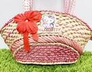 【震撼精品百貨】Hello Kitty 凱蒂貓~日本三麗鷗 kitty 編織手提袋/側背包-月光#79384